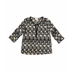 Everly Bohemian Style Blouse Size Small